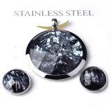 Ensemble bijoux fantaisie à crémaillère Pendentif pendentif en acier inoxydable
