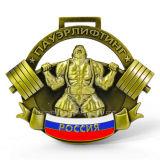 Medaglia calda di sport di Weightlifting di Adward del metallo di vendite