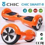 Usine aucun scooter électrique pliable d'équilibre d'individu de deux roues avec la batterie de Samsung, véhicule portatif