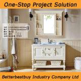 Gabinete de banheiro clássico do projeto com posição do assoalho