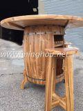 Crémaillère neuve en bois Etats-Unis de baril de vin de modèle avec le Tableau et les bancs