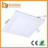 beleuchtet quadratische Downlight 90lm/W Gehäuse-Lampe AC85-265V der 15W LED Leuchte-200X200mm unten Decke
