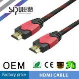 Sipu Nylon Braided 24k Câble HDMI plaqué or avec Ethernet