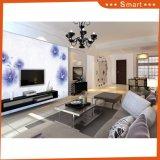 Pittura a olio blu di disegno del reticolo di fiori del punto di prezzi della decorazione poco costosa calda della casa