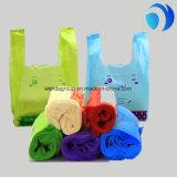 HDPE 색깔 플라스틱 쇼핑 조끼 부대
