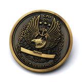Pièce de monnaie faite sur commande de souvenir de logo d'aigle de qualité