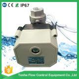 2 robinet à tournant sphérique motorisé électrique de l'eau de la voie Ss304