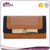 女性のための2つのカラー傾向の札入れ、PU販売のための女性革財布