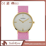 Montre de Digitals simple de dames de sport de rose d'acier inoxydable