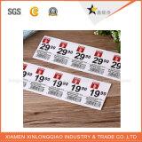 Бумажной стикер печатание ярлыка Self-Adhesive прозрачной напечатанный этикетой для бирки