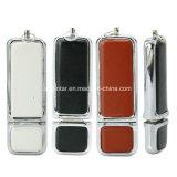 Quadratisches Platte-Leder USB-Blitz-Laufwerk Geschäft USB-Pnedrive