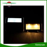 luz de la yarda del jardín de la lámpara de pared de la luz de la cerca de la luz de la escalera del camino de la energía solar de 2PCS LED