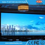 Cartelera a todo color de la visualización de LED del RGB P1.923mm SMD HD para el canal de televisión