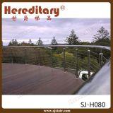 Trilhos exteriores do terraço do aço inoxidável dentro do fio do cabo (SJ-H080)