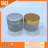 Venta al por mayor Brushed Cosmetic Jar Contenedor Aluminio Cap
