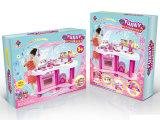 Jogo de cozimento ajustado da cozinha do brinquedo dos miúdos para a menina (H8251020)