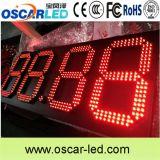 Signe du prix du gaz DEL avec le cadre de contrôle