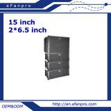 Dual 6.5 polegadas linha profissional altofalante do Woofer de 15 polegadas do sistema da disposição (EV206-115S - o TACTO)