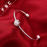 Braccialetto del crisantemo placcato argento caldo di alta qualità di vendita per la ragazza
