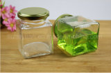 O mel conserva o frasco de vidro sem chumbo