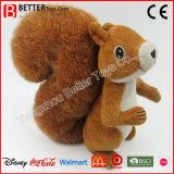 Los juguetes animales suaves del precio bajo rellenaron la ardilla de Brown