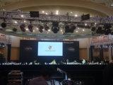 Höhe erneuern die farbenreiche Innen Bildschirmanzeige LED-P3.91, Miet-LED-Bildschirmanzeige