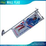 6 pies de aluminio / acero 3 Frame asta de bandera de pared ajustable seccional (J-NF21M03002)