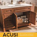 新しい優れた卸し売り簡単な様式の純木の浴室の虚栄心の浴室用キャビネットの浴室の家具(ACS1-W57)