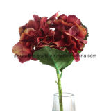 Fiori falsi di seta dei fiori artificiali del singolo Hydrangea del gambo
