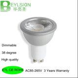 MAZORCA del grado GU10 Dimmable de 7W 600lm 38 nueva que amortigua bulbos de las iluminaciones del punto de la lámpara LED de la luz LED del punto del LED