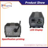 La coltura idroponica 315W elettrico CMH/HPS coltiva la reattanza chiara con la visualizzazione di LED