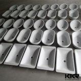 Sanitarios de color blanco superficie sólida de piedra Lavabo de acrílico con el Gabinete
