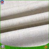 Домашним ткань сплетенная тканьем полиэфира водоустойчивый Fr Flocking Linen ткань светомаскировки для занавеса окна