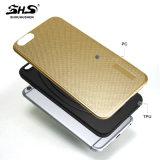 Caisse hybride de téléphone d'effet de pétrole en métal de Shs pour l'iPhone 6