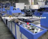 Impresora automática de la pantalla de la escritura de la etiqueta del algodón de 3 colores con recinto