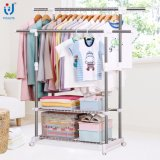 Ensemble extensible de magasin de vêtements extensible Rack Rack