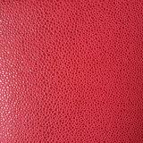 O couro Shaped gravado do plutônio de Microfiber da camurça do melão de Hami para sapatas ensaca (HS-M1703)
