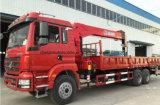 Shacman 10tons faltbarer Arm-Kranwagen-LKW eingehangener Kran