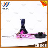 Tazón de fuente de cristal de la cachimba del tubo de agua de la cachimba del proceso de la resina de los tubos de agua de Ak47 de tubos de agua del color de rosa del vidrio de tubo del silicón del tubo de la cachimba del carbón de leña de Shisha del humo