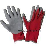 Guante termal del trabajo de la seguridad del invierno de los guantes de la capa del látex del apretón