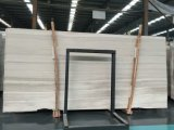 Mármol Polished de la dolomía del grano de madera blanco de Perlino Bianco