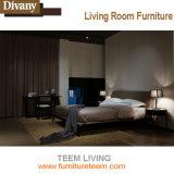 Festes Holz-gebogenes Entwurfs-Komfort-Gewebe-Bett