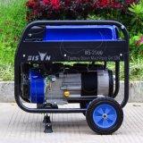 バイソン(中国)の小さいホーム使用法2.5kVA 2.5kw 2500Wの銅線の電池式のポータブル6.5HPガソリン発電機