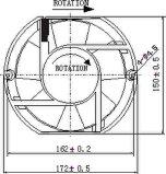 вентилятор AC 115/220/230/260/380V 172X150X51mm осевой с утверждениями