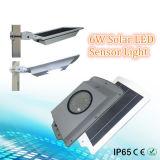 le détecteur de mouvement de 6W 108 DEL a intégré tous dans un réverbère solaire de DEL SL1-18-6W