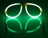 Occhiali di plastica variopinti di incandescenza della decorazione del partito di vetro di incandescenza