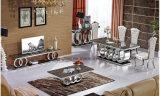 대리석 식탁 고정되는 현대 식당 긴 좁은 테이블