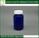 Золотистая алюминиевая бутылка любимчика 250ml крышки голубая для микстуры