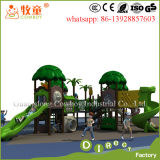 Diapositiva plástica de los cabritos, patio al aire libre de los niños, conjunto al aire libre del patio
