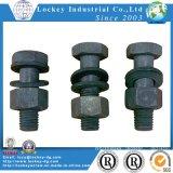 Hex Kopf-Kopfschrauben-Stahl-Ebene des Grad-5